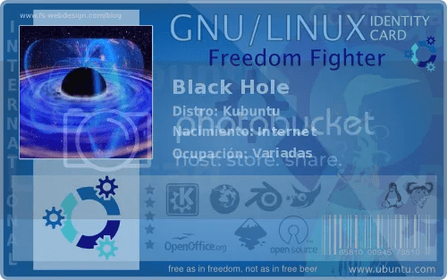 Black Hole Kubuntu Card