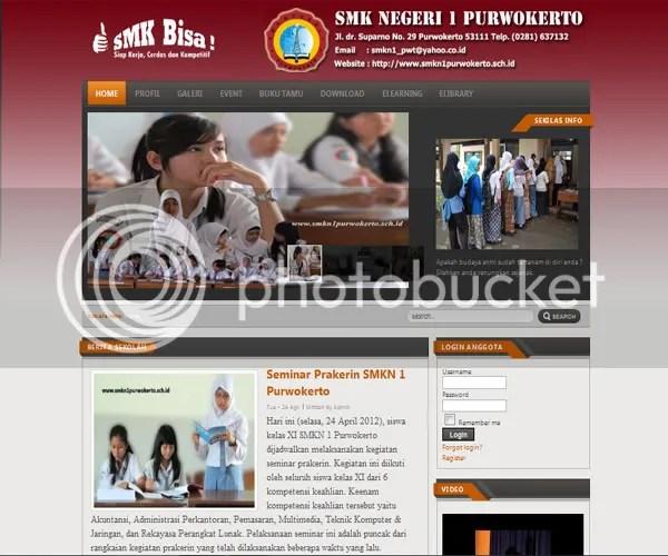 Screenshoot Web Sekolah