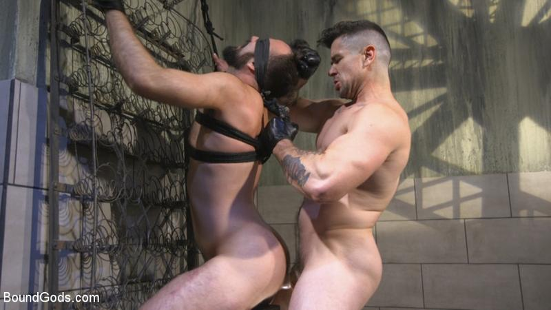BoundGods – Leather God Trenton Ducati Dominates & Destroys Straight Stud