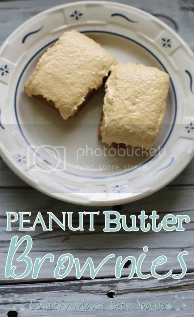 Homemade Peanut Butter Brownies [Recipe]- Country Mouse City Spouse