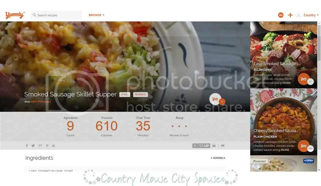 Three Reasons to Start Using Yummly Today- Country Mouse City Spouse