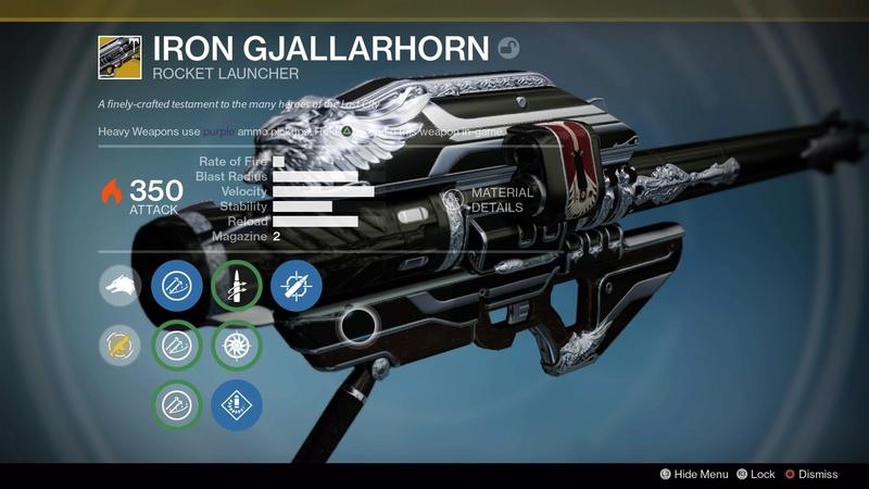 Gjallarhorn, Destiny ottenere il nuovo Gjallarhorn 350