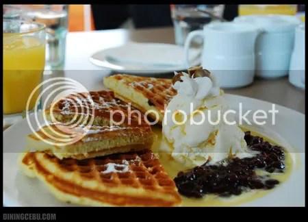UCC Cafe Terrace in Terraces Ayala Cebu sweet breakfast special