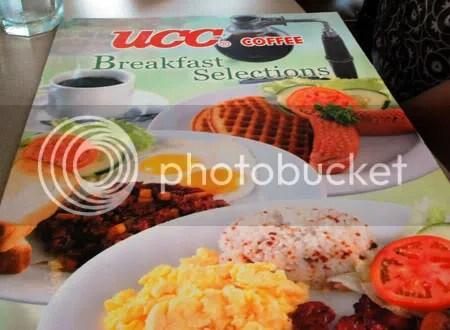 Cebu restaurant UCC Cafe Terrace breakfast