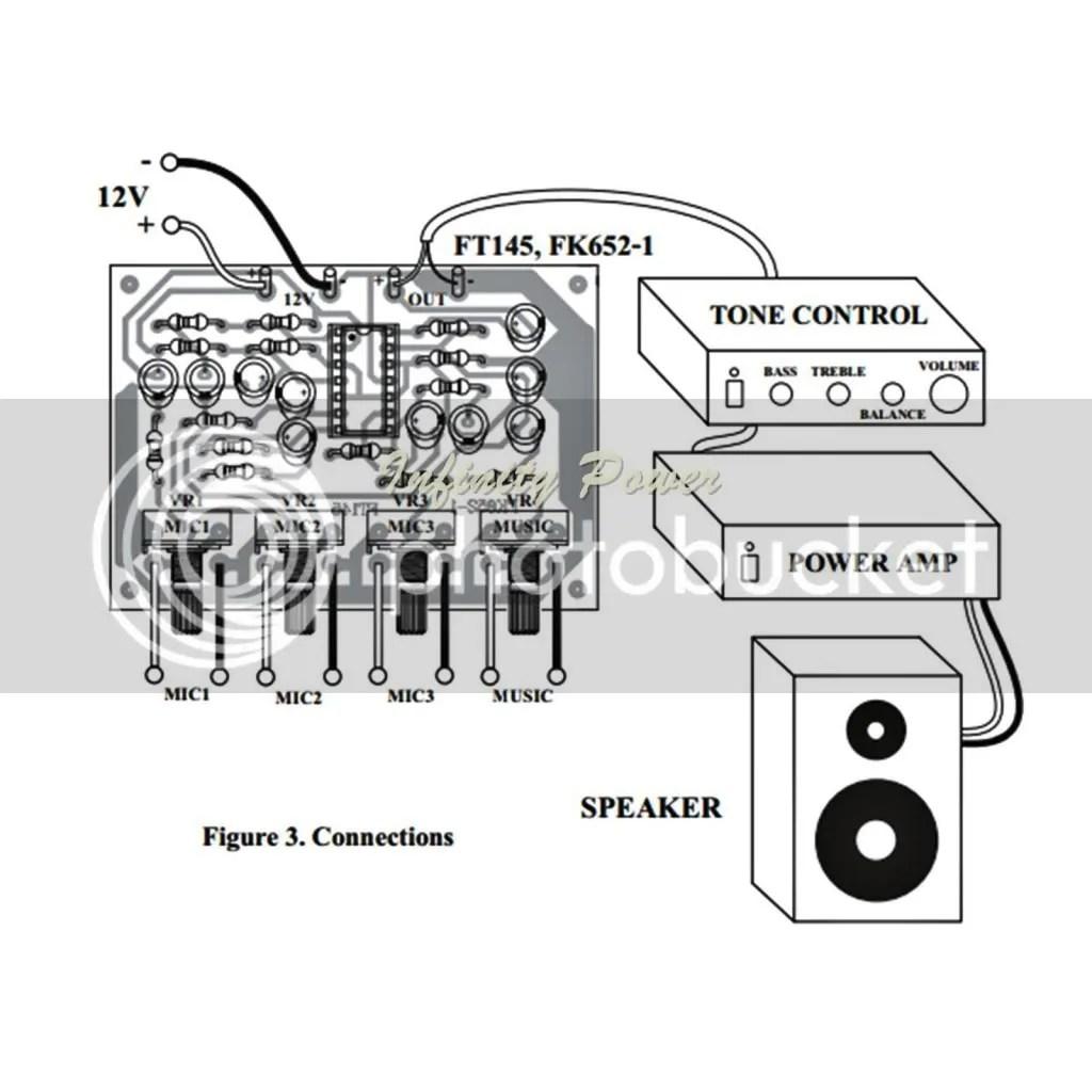 Fa652 Mic Mixer Preamplifier 3 Channels Kit