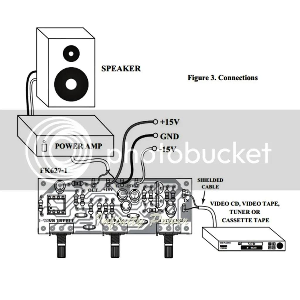 Fa627 Super Tone Control Mono Circuit Kit For Power Amplifier