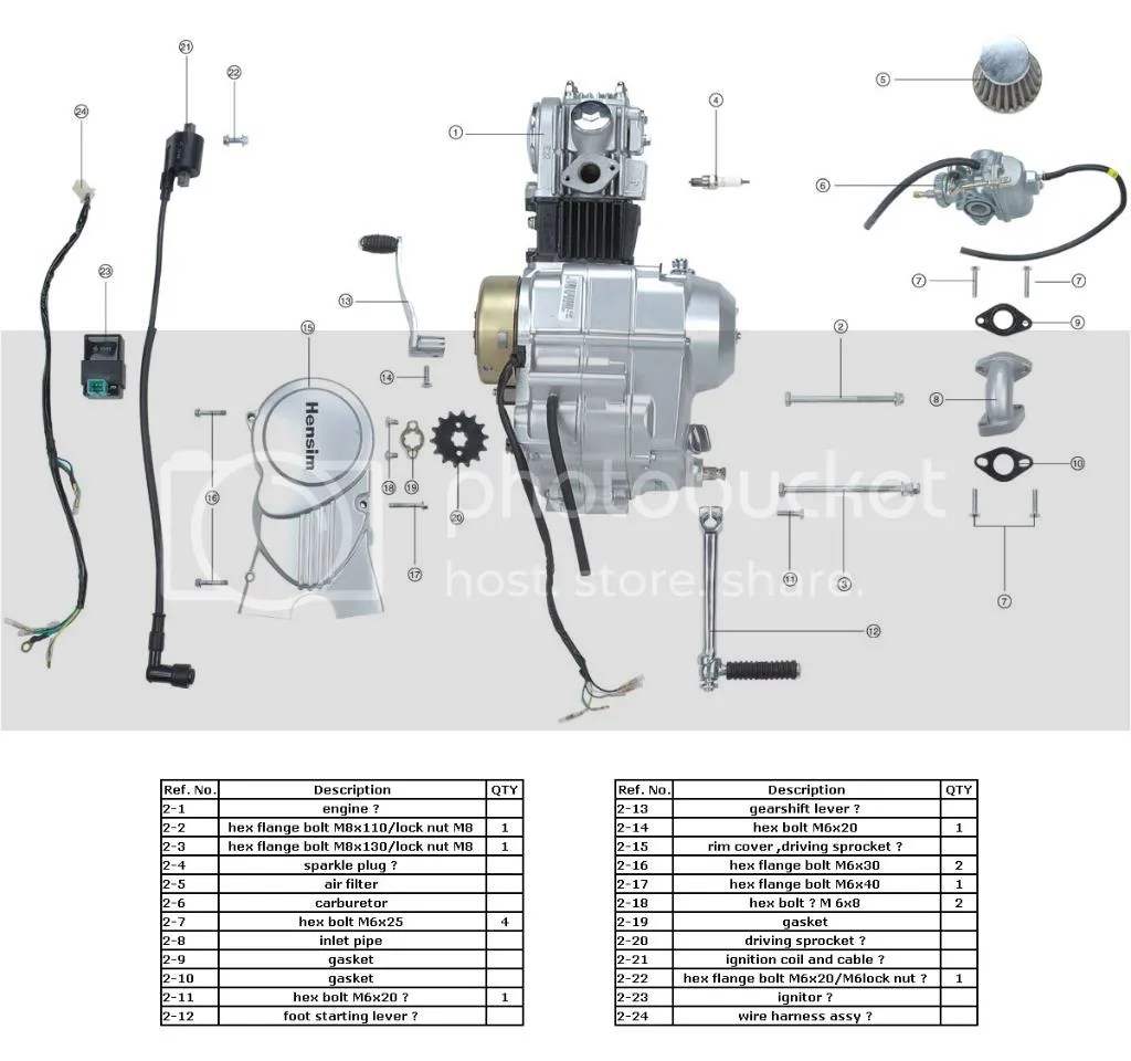 49cc 4 Stroke Engine Parts Diagram