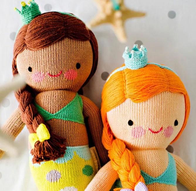 Cuddle & Kind mermaid handknit dolls