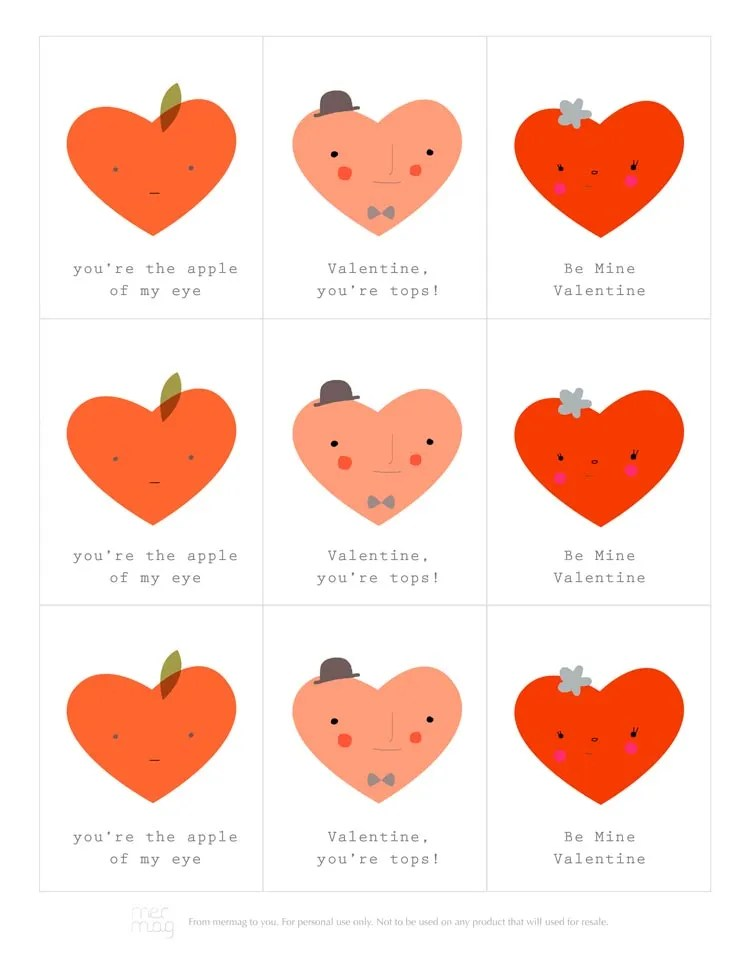 14 Printable Valentines Day Cards For The Classroom