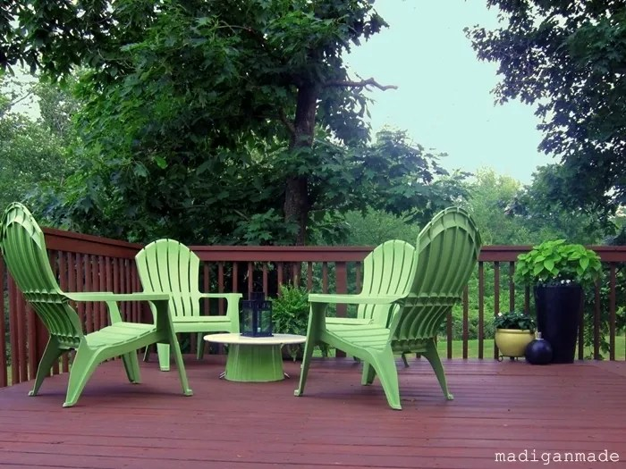Update your outdoor space on the cheap with bright apple green