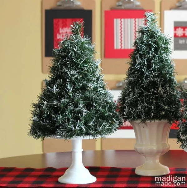Diy Flocked Mini Topiary Trees Rosyscription