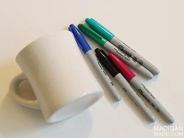 DIY written sharpie mug tutorial