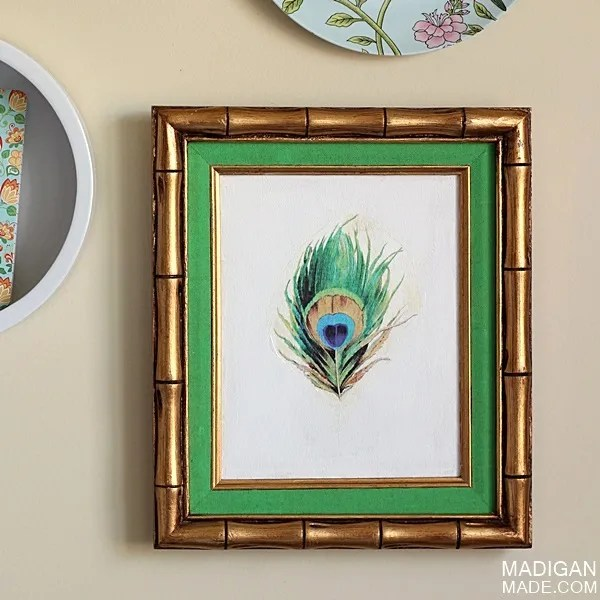 DIY vintage wall art ideas - makeover a frame