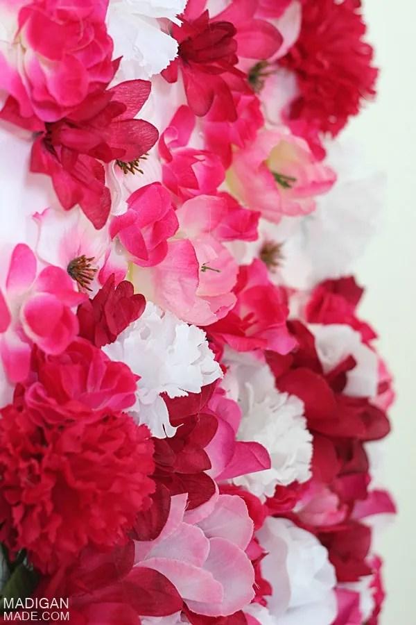 artificial silk flower DIY art