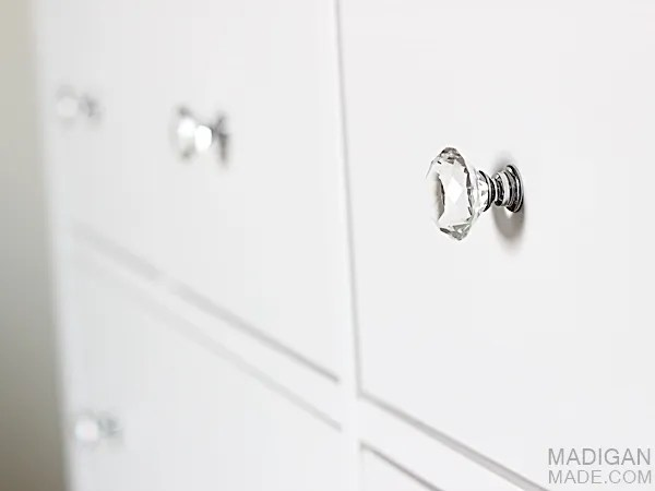 crystal drawer knobs on ikea hemnes dresser