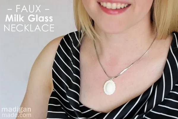 DIY Milk Glass Jewelry Pendant