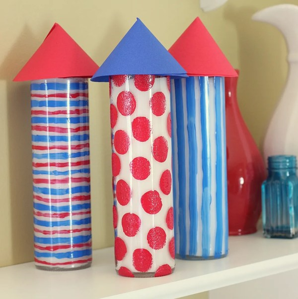 Patriotic Firecracker Inspired Candles by Shannon Madigan for SheKnows