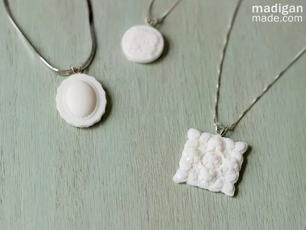 Easy DIY Milk Glass Necklace