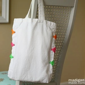 DIY summer tote idea