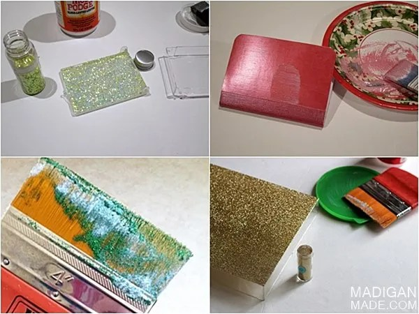 How to adhere glitter to things.