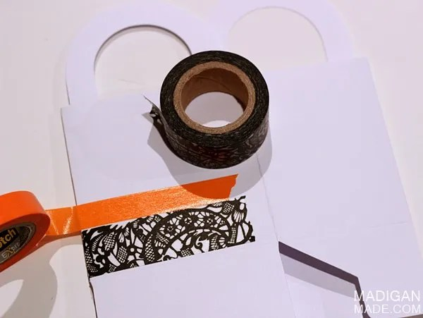 How to make Halloween goody bags with washi tape