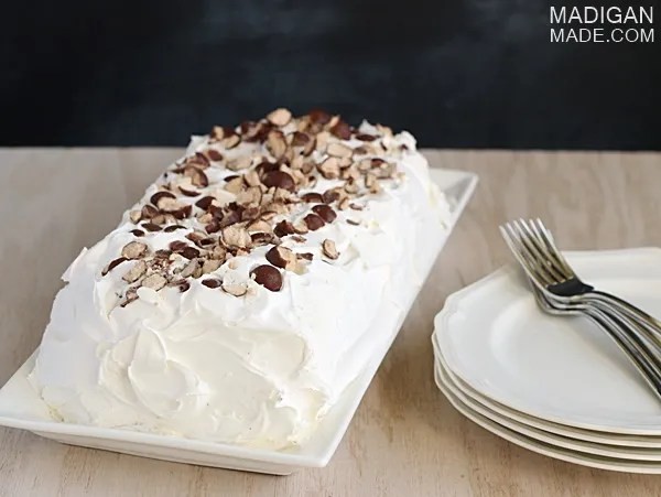 Malted milk ball ice cream cake recipe