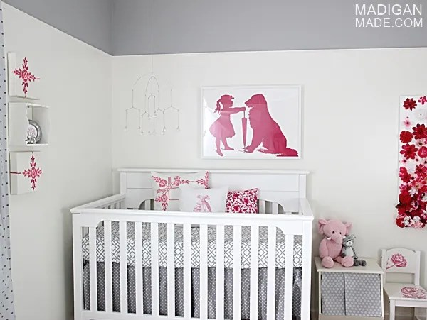 Pink and gray modern nursery decor ideas