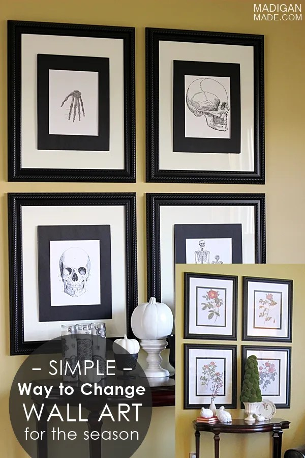 Love this tip! A quick and easy way to quickly change your frames for the season.