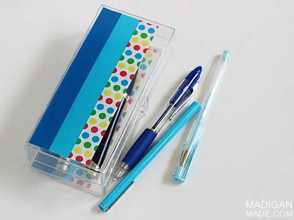 Simple back to school craft: a decorated pencil case #ScotchBTS
