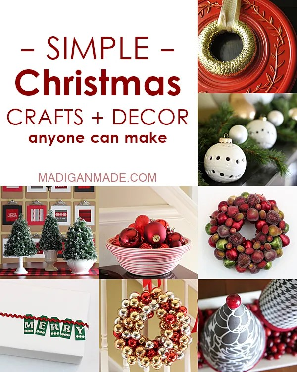 Over 25 simple DIY Christmas crafts and decor ideas. Wreaths, centerpieces, crafts, decor, gift packaging... so many elegant ideas in one spot!