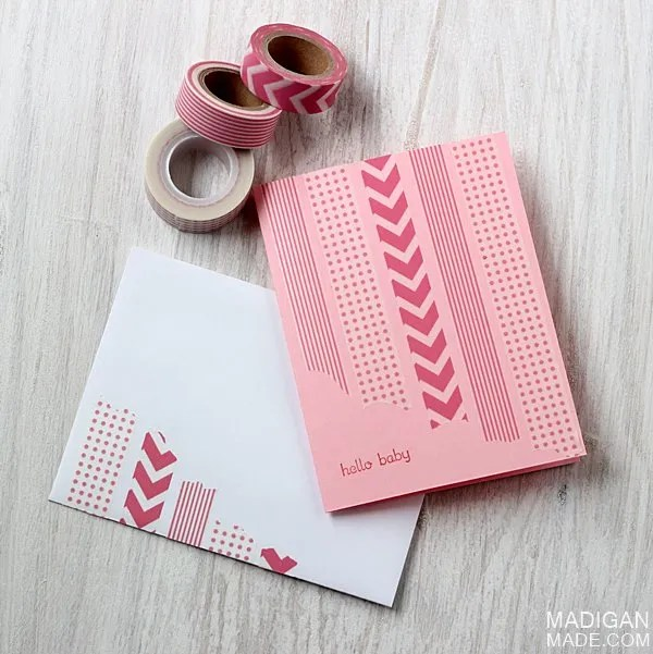 the simplest diy washi tape cards