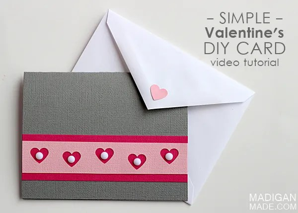 Easy Handmade Valentine's Card (video)