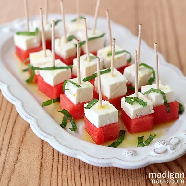 Watermelon Feta And Mint Salad Bites Rosyscription