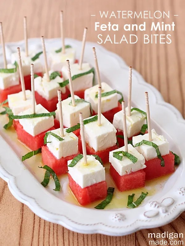 Watermelon, Feta and Mint Salad Bites - love this for an easy summer appetizer
