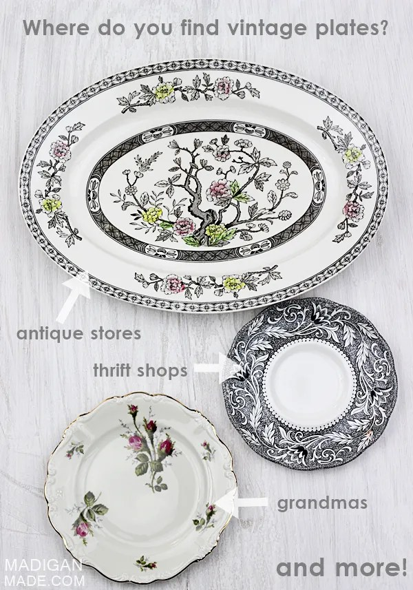 Where to Find Vintage Plates  sc 1 st  Rosyscription & My Simple Tips for Finding Vintage Plates - Rosyscription