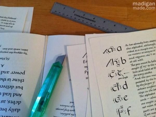 calligraphy book decor