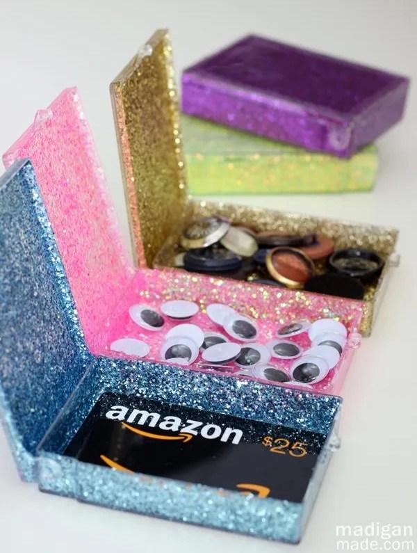 DIY glitter gift card holder - craft tutorial at madiganmade.com