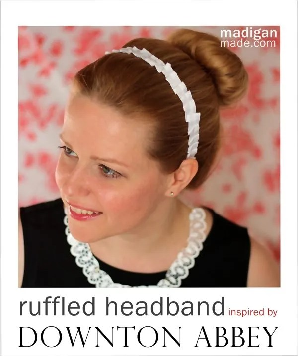 Downton Abbey Maids Inspired Hair Accessory Craft - tutorial at madiganmade.com