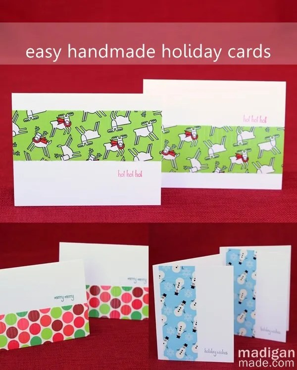 simple DIY Christmas cards with Duck Tape®