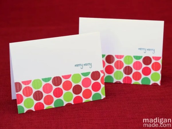 Cute polka dot card made with Duck tape