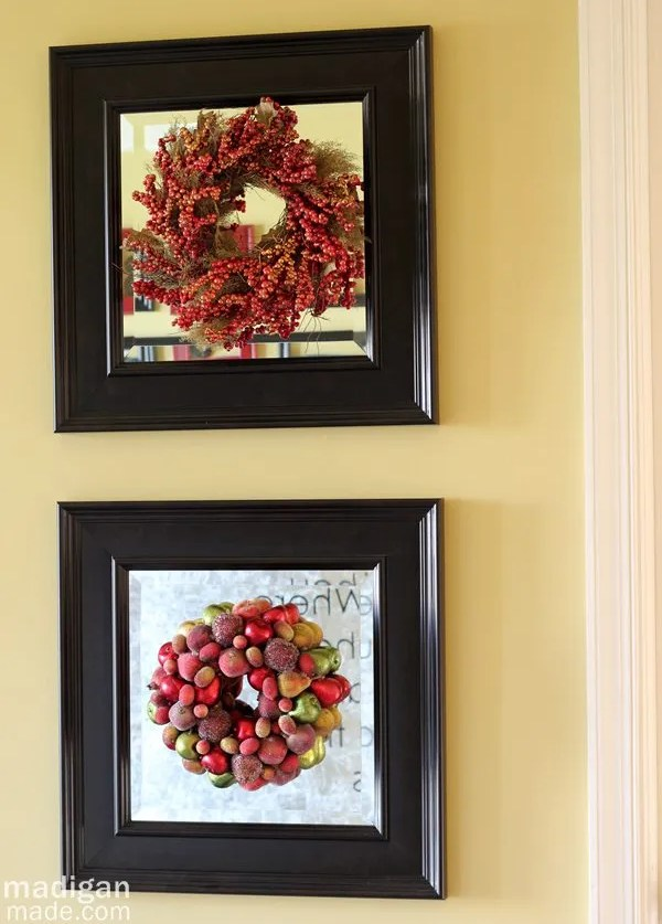 wreath decor ideas - part of the holiday home tour at madiganmade.com