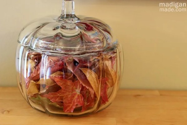 preserve your fall leaves with decoupage