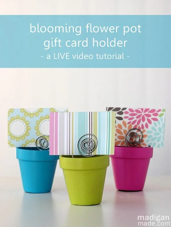 flower pot gift card holder craft
