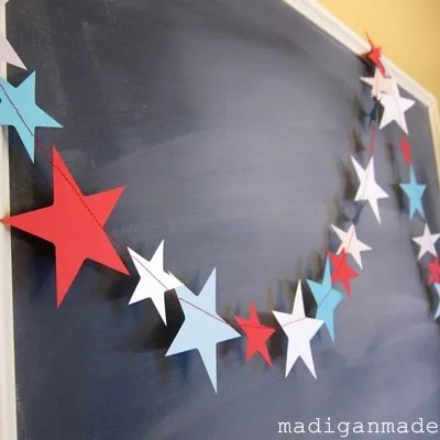 Reuse Stars Garland