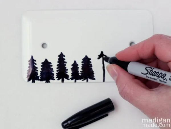a gift tag from an electrical switch cover & Sharpie markers - madiganmade.com