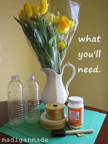 Water Bottle Decoration Ideas Simple Paper And Ribbon Water Bottle Vase A Last Minute Mother's Day Review
