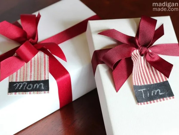 simple fabric gift tags