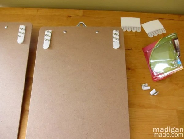 how to hang clipboards on the wall - details at madiganmade.com