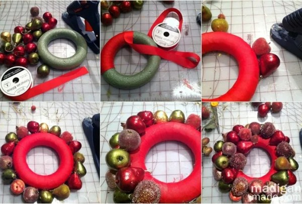 How to make an elegant ornament wreath - tutorial at madiganmade.com
