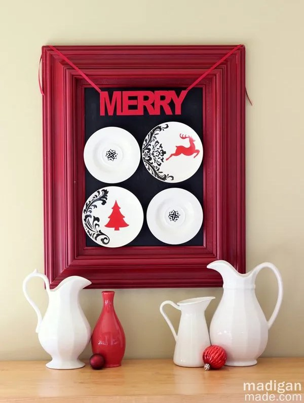 Christmas kitchen decor - part of the holiday home tour at madiganmade.com